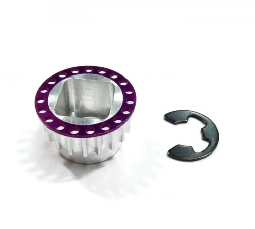 GPM Racing #MTX3019TRHP Aluminum-7075 Front Pulley 19t Of Rear Belt - 1pc Purple for Mugen Seiki MTX3