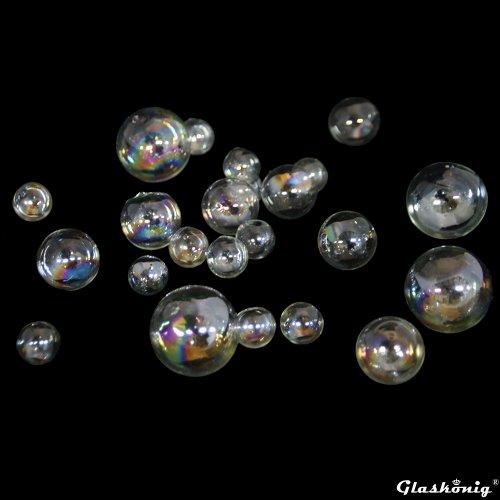 Glasblasen zur Dekoration 3er Set 5 x Glasblase Ø 2cm - 5 x Glasblase Ø 3cm - 5 x Glasblase Ø 4cm
