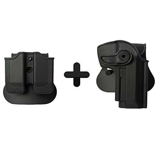 (IMI Defense Tactical Roto Pistol Holster + Double Magazine Pouch For Beretta 92/9 Llama 82 Cheetah FS 85 Yavuz 16 Handgun)