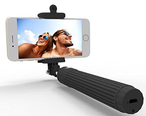 selfie stick kiwii bluetooth monopod extendable wireless bluetooth selfie stick with built in. Black Bedroom Furniture Sets. Home Design Ideas