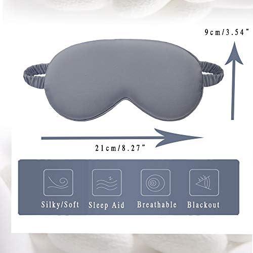 dressfan Eye Mask Sleep Mask Silk Blindfold Blackout Eye Cover Portable Eye Shade Cotton Filled with Elastic Strap for Women /& Men Multicolor Optional