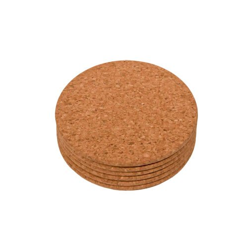 [Cork Coasters (107MM DIA X 8MM Thick, 6PC Set)] (Dinining Set)