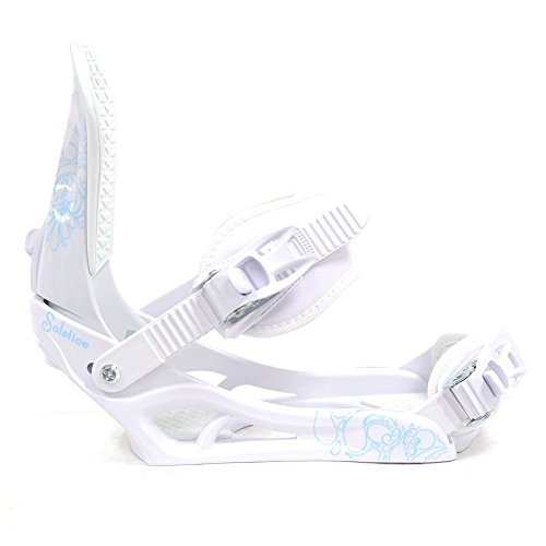 M3 Solstice Women's Snowboard Bindings White Medium (All Mountain Freestyle Snowboard Bindings)