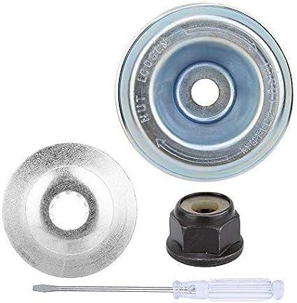 Jeffergarden - Kit de fijación de mantenimiento adaptador de arandela de fijación para adaptador de cuchilla apto para desbrozadora para cuerda Stihl herramienta de jardinería