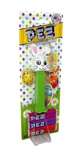Easter Pez Floppy Ear White Rabbit Candy and Dispenser by Pe