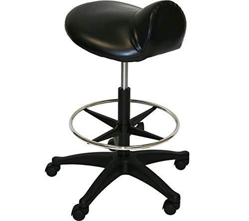 - LCL Beauty Extra Large Deluxe Air-Lift Saddle Stool with Adjustable Footrest