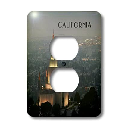 3dRose lsp/_62527/_6 Mormon Temple In Oakland California Plug Outlet Cover
