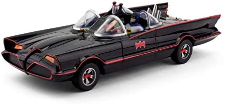 1966 Batmobile w Batman & Robin Mini Bendable Figures