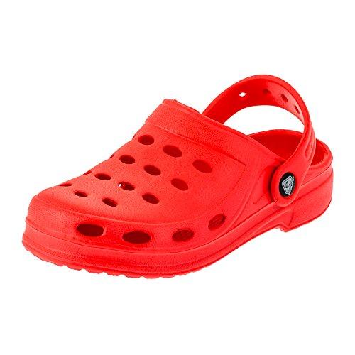2Surf Kinder Badeschuhe Clogs in Vielen Farben Gartenschuhe, Sandalen oder Hausschuhe M190rt Rot