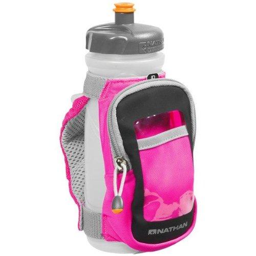 Nathan Hydration 2013 Quickdraw Plus Handheld Water Bottle Carrier (Hi-Viz Pink), Outdoor Stuffs