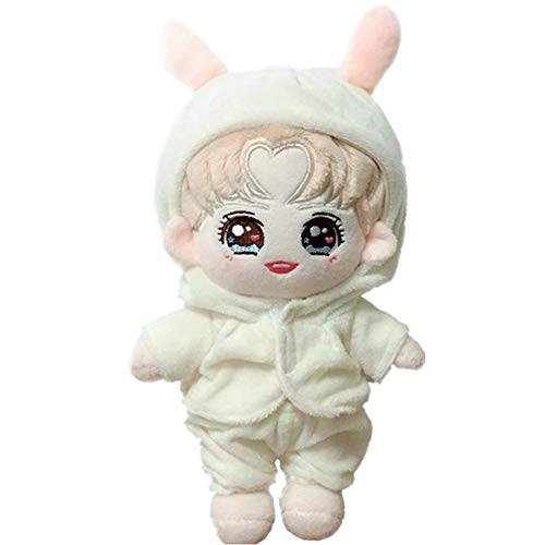 - VogueMing Wanna one EXO Shinee BTS Doll's Clothes Cute Rabbit Suit +Carrot Bag【no Doll】 (Tops+Pants+Carrots Bag, Suitable for 20cm Dolls)