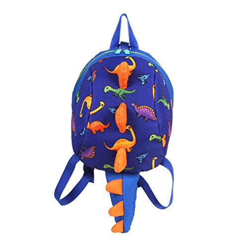 Price comparison product image Sumen Baby Toy Backpack, Girls Boys Cartoon Dinosaur Mini Bag for Toddler 2-6 Years Old (Dark Blue)