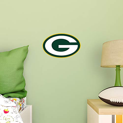FATHEAD NFL Green Bay Packers - Logo Teammate- Officially Licensed Removable Wall Decal, Multicolor, Large