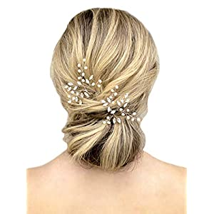 Unicra Wedding Hair Pins Hair Set Jewelry Decorative Wedding Hair Accessories for Brides and Bridesmaids Pack of 2…