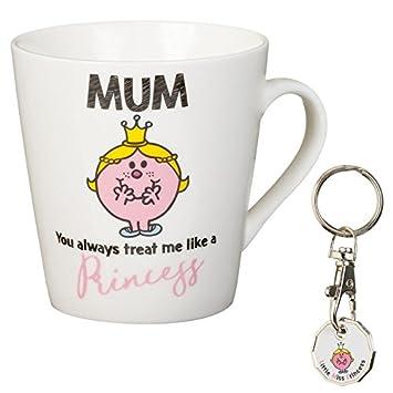 """Taza y llavero de carrito para niños con el texto en inglés""""Cartoon Mothers Day"""