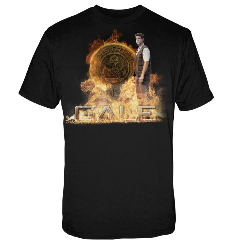 The Hunger Games Movie Men's Tee Gale with d12 Seal XL