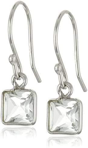 Aquamarine Square Dangle Earrings