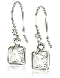 Aquamarine Square Dangle Earrings