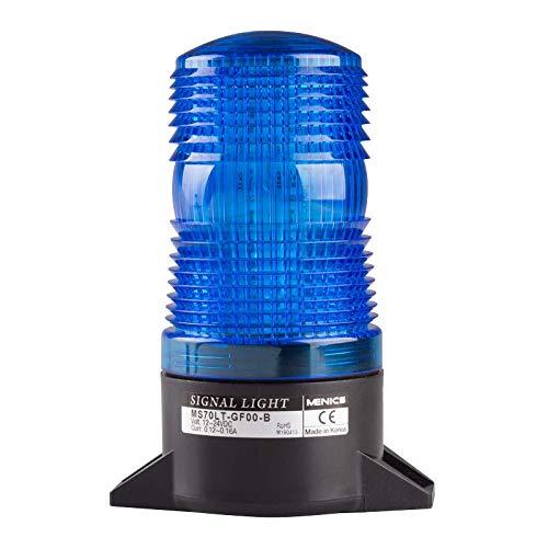 70mm Xenon Strobe Light, Surface Mount, 220VAC, Blue Lens