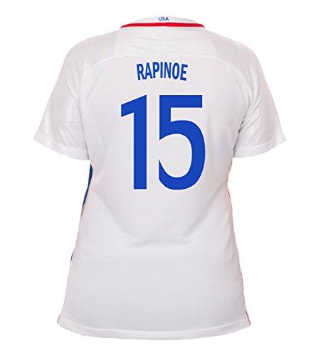 Nike Rapinoe #15 USA Home Soccer Jersey Rio 2016 Olympics Women's (XL)