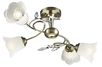 Lámpara de techo de cristal de latón luz lámpara del salón de Esto Romantica 997109-4