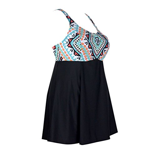 13ef0ed5e96 30%OFF Happybai Women s One Piece Swimdress Plus Size Swimwear Vintage  Tankini Swimsuit