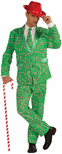 Adult Candy Cane Suit Christmas Costume New Year