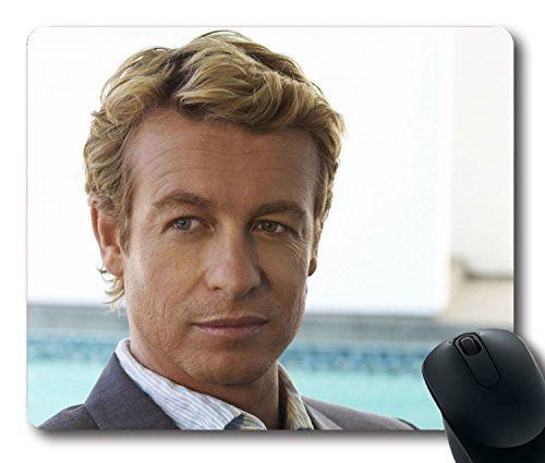 Price comparison product image 2015 Custom Charming Mouse Pad with The Mentalist Patrick Jane Simon Baker Non-Slip Neoprene Rubber Standard Size 9 Inch(220mm) X 7 Inch(180mm) X 1/8 Inch(3mm) Desktop Mousepad Laptop Mousepads Comfortable Computer Mouse Mat