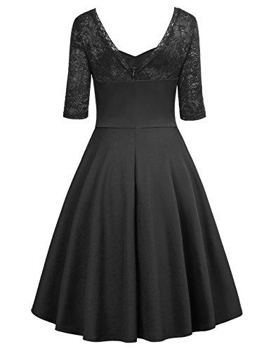 Belle GF547 Vintage 547 Lace Neck Noir Robe Sweetheart 1 Femme Neck Sweetheart Poque aqxnprzwUa