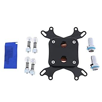 POM CPU Water Cooling Block Nickel Plated Copper Base Inner Channel for Intel 775 1150 1155 1156 1366 AMD AM2 AM3 AM3+
