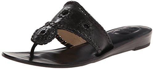 (Jack Rogers Women's Capri Dress Sandal, Black 8 M US)