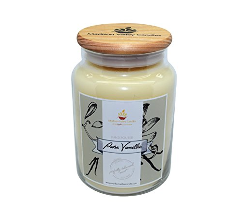 Strong Scented Pure Vanilla Soy Candle 26oz By Madison Valley Soy Candle Company