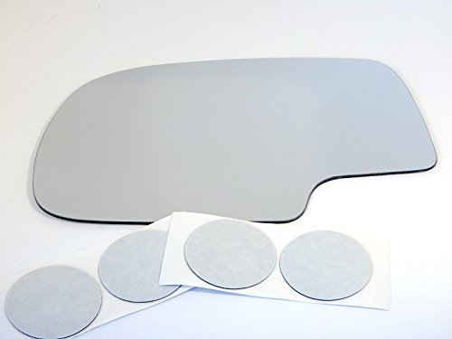 Fits 99-07 Chevy Silverado, GMC Sierra Classic Power, Left Driver Replacement Mirror Glass Lens w/ Adhesive USA