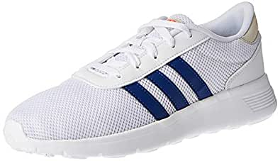 Adidas LITE RACER Men's Road Running Shoes, White (Ftwr White/Collegiate Royal/Solar Red), 9.5 UK (44 EU),F34643