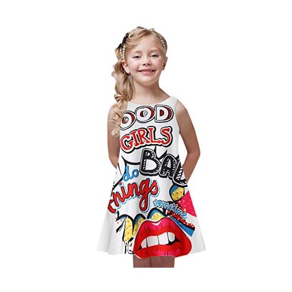 VICGREY Vestito da Ragazza Bambini Abito da Sposa Vestiti da Principessa Casual Gonne Vestiti Estate Abiti Bambine… 1 spesavip