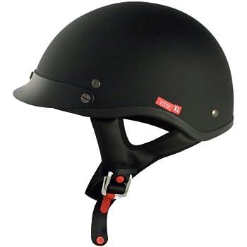 VCAN V531Cruiser Solid Flat Black Small Half Helmet