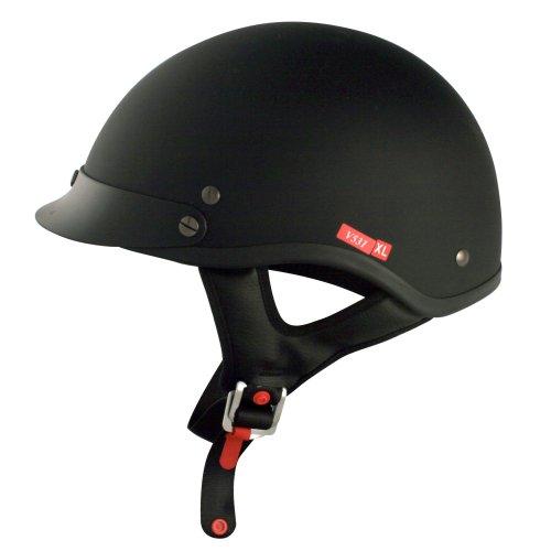 Flat Black Motorcycle Helmet - 5