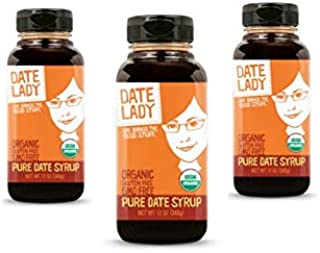 product image for Date Lady Organic Date Syrup 12 Ounce Squeeze Bottle | Vegan, Paleo, Gluten-free & Kosher (3-Pack)