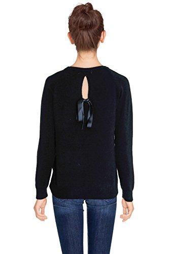 CHERRY PARIS - Jerséi - suéter - Básico - Cuello redondo - Manga Larga - para mujer negro