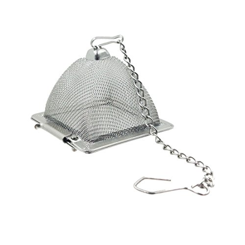 - Makimy Pyramid Tea Infuser - NEW & IMPROVED - Best Tea Strainer for Loose Leaf & Herbal Tea - Stainless Steel Tea Filter - The Perfect Mesh Tea