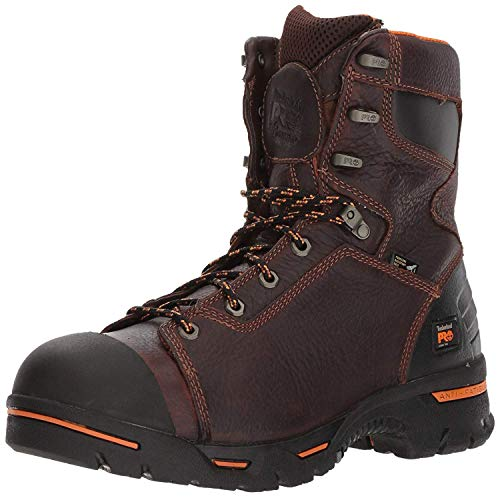 "Timberland PRO Men's 52561 Endurance 8"" Puncture Resistant Workboot,Brown/Brown,12 M"