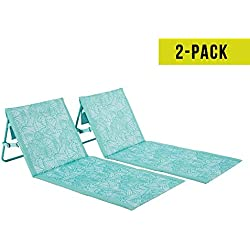 Lightspeed Outdoors 2 Pack Lounger Park and Beach Chair (Seaglass)