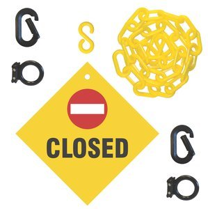2'' x 67'' Yellow/Black Closed Sign Barricade System
