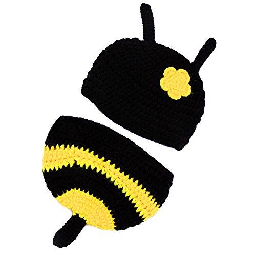 [Ayliss® 0-3 Months Cute Honeybee Handmade Knitting Baby Costume Outfit] (Cute Honey Bee Costumes)