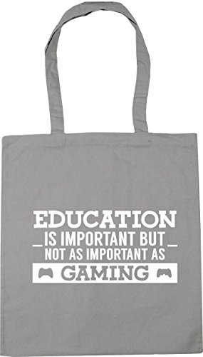 as is important Beach but Gym 42cm important Grey x38cm Light gaming Shopping HippoWarehouse Education litres Tote not Bag 10 as wA5qEXn