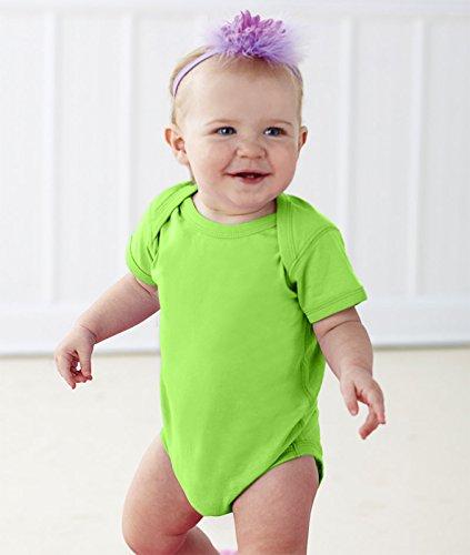 Rabbit Skins Infants'Fine Jersey Lap Shoulder Bodysuit, NB, KEY LIME