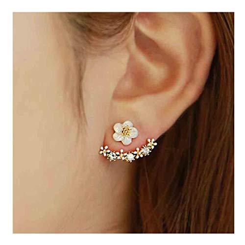 - Yfe Women Earring Studs Daisy Flowers Earrings Geometry Jewelry Earrings for Women and Girls Ear Jacket Studs