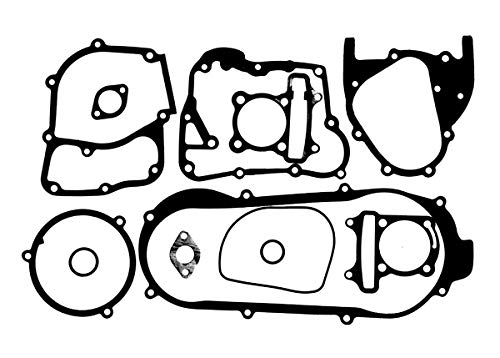 AlveyTech Gasket Set for GY6B Short Case Engines with 170cc and 180cc Big Bore Kits