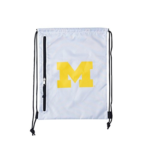 Michigan Wolverine Mascot Costume (NCAA Michigan Wolverines Backsack, White, One Size)