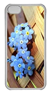 Customized iPhone 6 PC Transparent Case - Ws Blue Forget Me Not Flowers Personalized Cover